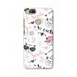 Crafting Crow Mobile Back Cover For Xiaomi Mi A1 - Kitty