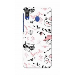 Crafting Crow Mobile Back Cover For Samsung Galaxy M20 - Kitty