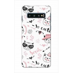 Crafting Crow Mobile Back Cover For Samsung Galaxy S10 - Kitty