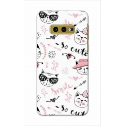 Crafting Crow Mobile Back Cover For Samsung Galaxy S10e - Kitty
