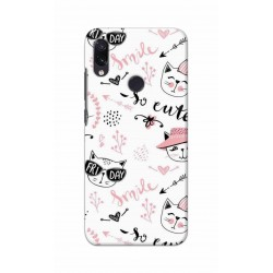 Crafting Crow Mobile Back Cover For Xiaomi Redmi Note 7 - Kitty