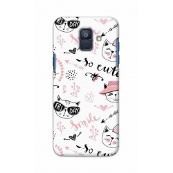Crafting Crow Mobile Back Cover For Samsung Galaxy A6 2018 - Kitty