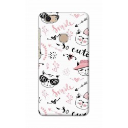 Crafting Crow Mobile Back Cover For Vivo V7 - Kitty