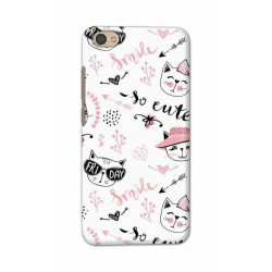Crafting Crow Mobile Back Cover For Xiaomi Redmi Y1 Lite - Kitty