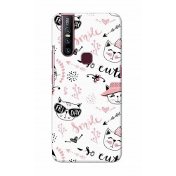 Crafting Crow Mobile Back Cover For Vivo V15 - Kitty