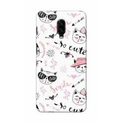 Crafting Crow Mobile Back Cover For One Plus 7 - Kitty
