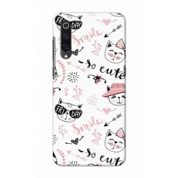 Crafting Crow Mobile Back Cover For Xiaomi Mi 9 - Kitty
