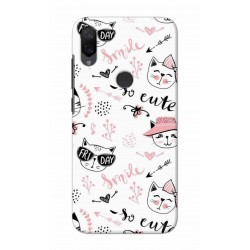 Crafting Crow Mobile Back Cover For Xiaomi Mi Play - Kitty