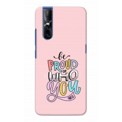 Crafting Crow Mobile Back Cover For Vivo V15 Pro - Be Proud
