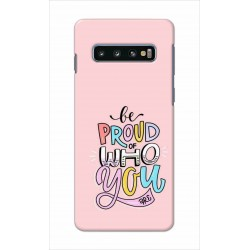 Crafting Crow Mobile Back Cover For Samsung Galaxy S10 Plus - Be Proud