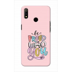 Crafting Crow Mobile Back Cover For Oppo Realme 3 - Be Proud