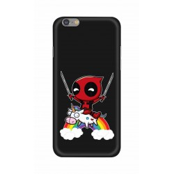 Crafting Crow Mobile Back Cover For Apple Iphone 6 - Deadpool
