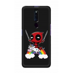 Crafting Crow Mobile Back Cover For Oppo F11 Pro - Deadpool