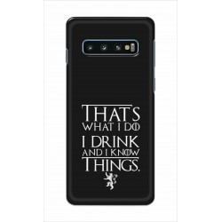 Crafting Crow Mobile Back Cover For Samsung Galaxy S10 Plus - I Drink