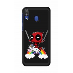 Crafting Crow Mobile Back Cover For Samsung Galaxy M20 - Deadpool