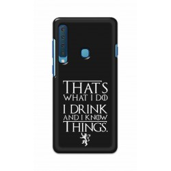 Crafting Crow Mobile Back Cover For Samsung Galaxy A9 2018 - I Drink