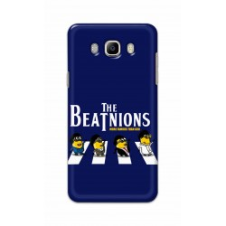 Crafting Crow Mobile Back Cover For Samsung Galaxy J8 - Beatles Minion