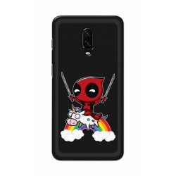 Crafting Crow Mobile Back Cover For One Plus 7 - Deadpool