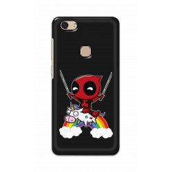 Crafting Crow Mobile Back Cover For Vivo V7 - Deadpool
