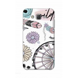 Crafting Crow Mobile Back Cover For Samsung Galaxy J7 - Wild