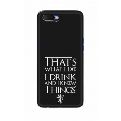 Crafting Crow Mobile Back Cover For Oppo K1 - I Drink