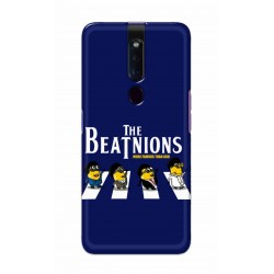 Crafting Crow Mobile Back Cover For Oppo F11 Pro - Beatles Minion