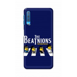 Crafting Crow Mobile Back Cover For Samsung Galaxy A7 2018 - Beatles Minion