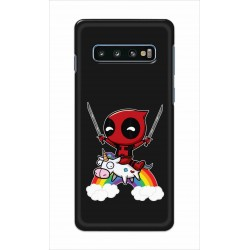 Crafting Crow Mobile Back Cover For Samsung Galaxy S10 Plus - Deadpool