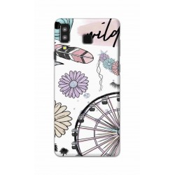 Crafting Crow Mobile Back Cover For Samsung Galaxy A8 Star - Wild