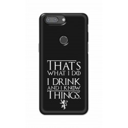 Crafting Crow Mobile Back Cover For One Plus 5t - I Drink