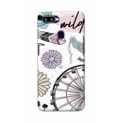 Crafting Crow Mobile Back Cover For Oppo F9 - Wild