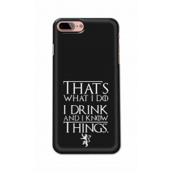 Crafting Crow Mobile Back Cover For Apple Iphone 8 Plus - I Drink