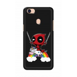 Crafting Crow Mobile Back Cover For Oppo F5 - Deadpool