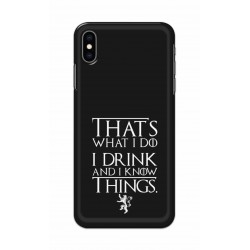 Crafting Crow Mobile Back Cover For Apple Iphone XS Max - I Drink
