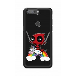 Crafting Crow Mobile Back Cover For One Plus 5t - Deadpool