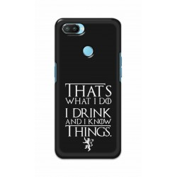 Crafting Crow Mobile Back Cover For Oppo Realme 2 Pro - I Drink