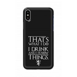 Crafting Crow Mobile Back Cover For Apple Iphone X - I Drink