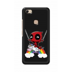 Crafting Crow Mobile Back Cover For Vivo Y81 - Deadpool