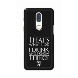 Crafting Crow Mobile Back Cover For One Plus 6 - I Drink