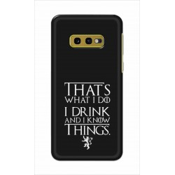 Crafting Crow Mobile Back Cover For Samsung Galaxy S10e - I Drink