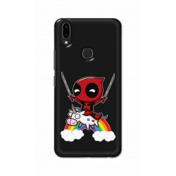 Crafting Crow Mobile Back Cover For Vivo V9 - Deadpool