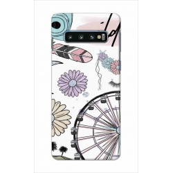 Crafting Crow Mobile Back Cover For Samsung Galaxy S10 - Wild