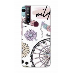 Crafting Crow Mobile Back Cover For Vivo V15 - Wild