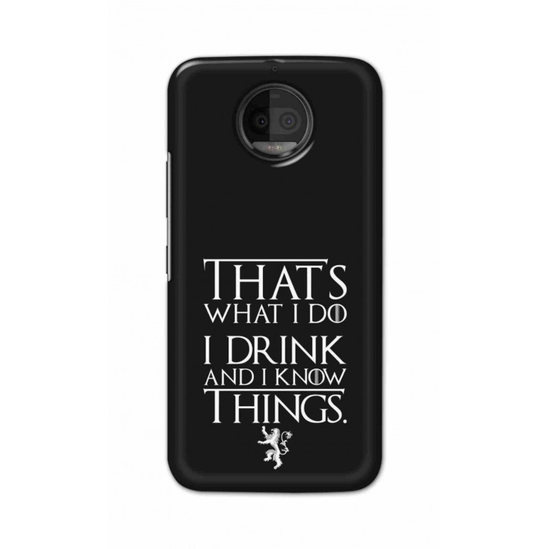 official photos 2dae0 46246 Crafting Crow Mobile Back Cover For Motorola Moto G5S Plus - I Drink