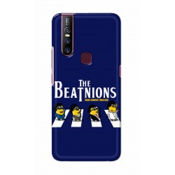 Crafting Crow Mobile Back Cover For Vivo V15 - Beatles Minion