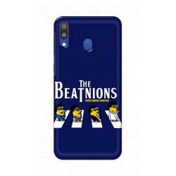 Crafting Crow Mobile Back Cover For Samsung Galaxy M20 - Beatles Minion