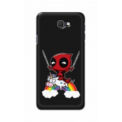 Crafting Crow Mobile Back Cover For Samsung Galaxy J7 Prime - Deadpool