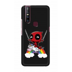 Crafting Crow Mobile Back Cover For Vivo V15 - Deadpool