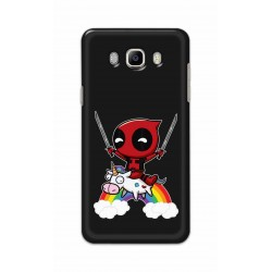 Crafting Crow Mobile Back Cover For Samsung Galaxy J8 - Deadpool