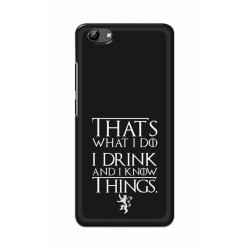 Crafting Crow Mobile Back Cover For Vivo Y71 - I Drink